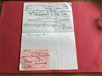F Pearson & Co Ltd 1939 Liverpool Seville Bitter Oranges  receipt R35030