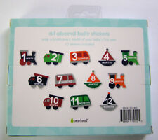 Baby's First Year Transportation Belly Stickers by Pearhead 12 Stickers New