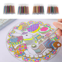 60/72/84/100 Colorful Gel Pen Refills Kit for Kids Students Marking Coloring