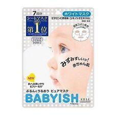 Kose Clear Turn Babyish Face Mask Whitening&Moisture 7 sheets Made in Japan F/S