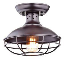 Dazhuan Industrial Vintage Metal Cage Pendant Lighting Semi Flush Mount Ceiling