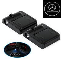 A60 2x Wireless Auto Tür Licht LED Willkommen Projektor Logo für Mercedes Benz