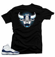 Shirt to match Jordan 11 Navy Win Like 82- Bull 11 Black Tee