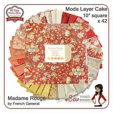 Moda Layer Cake Madame Rouge French General Fabric madam red vintage Rouenneries