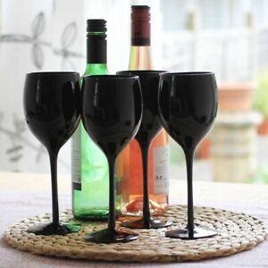 Black Wine Glasses Set of 4