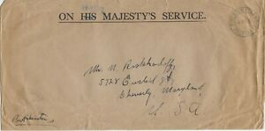 Very Rare 1953 Pitcairn Island Cover with Postal Form to Cheverly, MD, USA