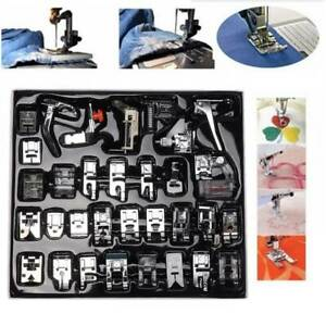 32Pcs Sewing Machine Foot Feet Presser Snap Set Kit For Singer/Brother/Butterfly