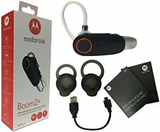 Motorola Boom 2+ Hd Bluetooth Water Resistant Wireless Headset W/ Car Charger