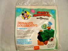1988 McDonalds Happy Meal Toy Mickey's Birthdayland Donald Duck's Locomotive #1
