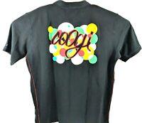 COOGI Polo Shirt Black Short Sleeve Embroidered  Men's Size 5XL
