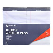 Members Mark Jr Writing Pad 5 X 8 Perforated White 24 Pack