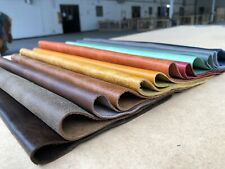 X10 Sheets Of 250mm Square Leather Craft Bundle, Customisable Colour Options