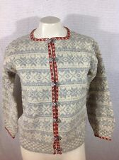 Women's Vintage Boiled Wool Sweater Silver Tone Metal Toggle Closure Square Neck