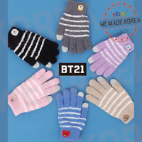 BT21 Character Winter Knitted Gloves Touchscreen Gloves 7types Official K-POP MD