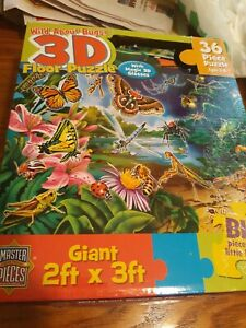 Wild About Bugs 3D Floor Puzzle 36 Piece Puzzle Giant Master Jigsaw Puzzle...