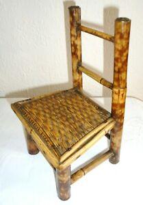 Rare Vintage/Antique Miniature Bamboo Chair ~ Salesman Sample/Apprentice Piece