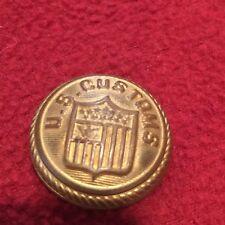Vintage US Military Customs Button