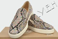 CHRISTIAN LOUBOUTIN 2100$ Authentic New Roccia Python Crystals Strass Sneakers
