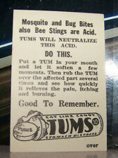Vintage Mid Century Ephemera Paper Advertisement Tums Antacid Eat Like Candy
