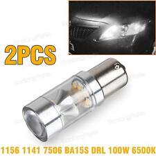 FOR  Audi 1156 1073 High Power 100W LED Daytime Running Light Bulbs Replace x 2
