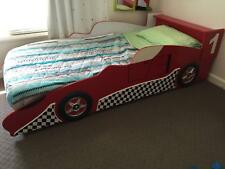 Childrens Racing Car Bed - red, single, good condition