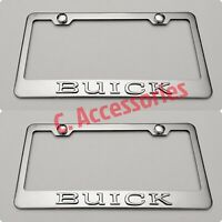 2X CAMRY Toyota 3D Raised Stainless Steel Chrome Finished License Plate Frame