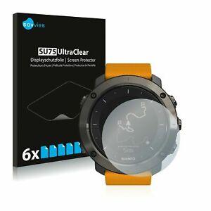 Suunto Traverse Alpha   Smart Watch, 6x Transparent ULTRA Clear Screen Protector