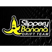 Slippery Banana Drift Team Sticker Decal JDM Race Slideways for Toyota Nissan
