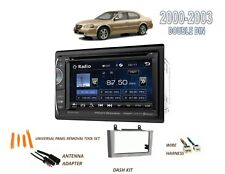 Fits 2000-2003 NISSAN MAXIMA CAR STEREO DOUBLE DIN KIT, 6.2