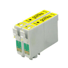 2 Yellow Ink Cartridges for Epson Stylus Photo R220 R320 R340 RX300 RX500 RX620