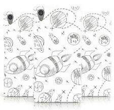 NEW SKETCH SPACE SHIP RAY GUN UFO PRINT WHITE PHONE CASE COVER FOR SONY XPERIA