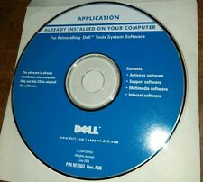 Dell Tools System Software Reinstall CD-rom App  P/N M7503 rev. A00 July 2004