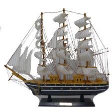Holzschiff Modelle Schiffsmodell Holz Segelboot Maße B50xH45x10cm