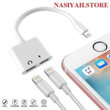Dual Lightning Adapter Splitter  Audio Earphone AUX Charger For Apple iPhone