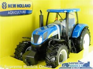 NEW HOLLAND MODEL TRACTOR FARM 1:32 SCALE T7000 BLUE BURAGO AGRICULTURE K8