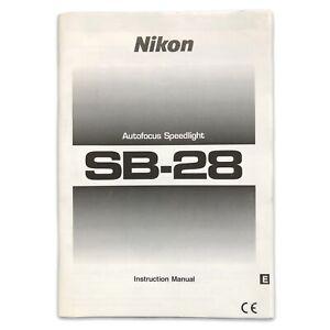Nikon Autofocus Speedlight SB-28 Original Instruction Manual