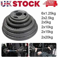 2*10kg  cast iron Weight Plates for Dumbbells & Weights Lifting Bars Gym Barbel