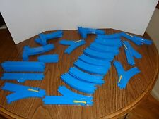 Huge Lot 52Tomy Thomas Blue tracks straight, curved, switches Risers Stop track