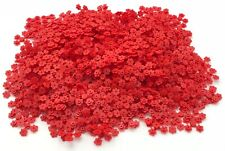 LEGO HUGE LOT OF 500 NEW RED FLOWERS 4 ON SPRUE TOWN CITY PIECES