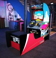 Outrun Arcade 1up Home Cabinet Arcade Free Adapters Lighted Marquee Chair New