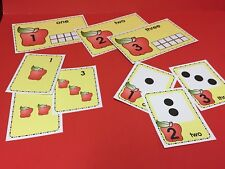 Apple Theme - Number Card Kit , Numbers Counting Cards 1-20 Laminated