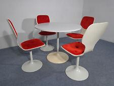 70er Jahre Tisch & 4 Stühle Tulip / Trompetenfuß
