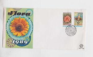 1989 Sc 1376/7 set on FDC,flower        g1016
