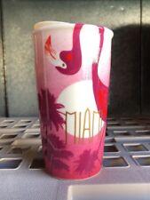 Starbucks MIAMI Ceramic Tumbler Travel Cup 12 Oz 2016. NWT!