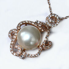 54.1CT 18K Rose Gold Plated Exquisite Crystal Pendant Necklace New Style MSD46