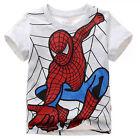 Kids Cartoon T-shirts Baby Boys Short Sleeve Superman Batman Summer Tee Top 1-7Y
