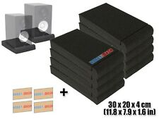 New 8 pcs XL Speaker Isolation Acoustic Monitor Studio Foam Pad Risers KK1108