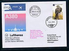 "99412) LH SF A380 Taufe ""BRÜSSEL"" Ausfall B.-Frankfurt 15.4.2013 bird Habicht"