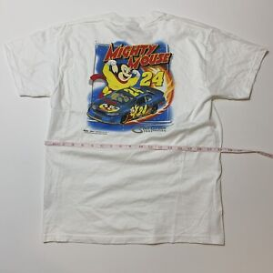 Vintage Mighty Mouse Shirt Jeff Gordon 24 Youth L Rare Cartoon Promo NASCAR