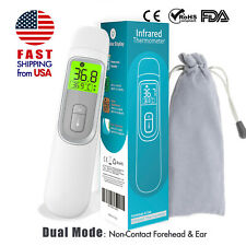 Fda Non Contact Infrared Forehead Thermometer Medical Screening Baby Adult Gray